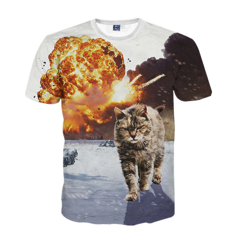 HTB1dy2sMpXXXXX.XpXXq6xXFXXXZ - 2017 NEW Surprised t-shirt fluffy cuddly terrified cat faces awesome