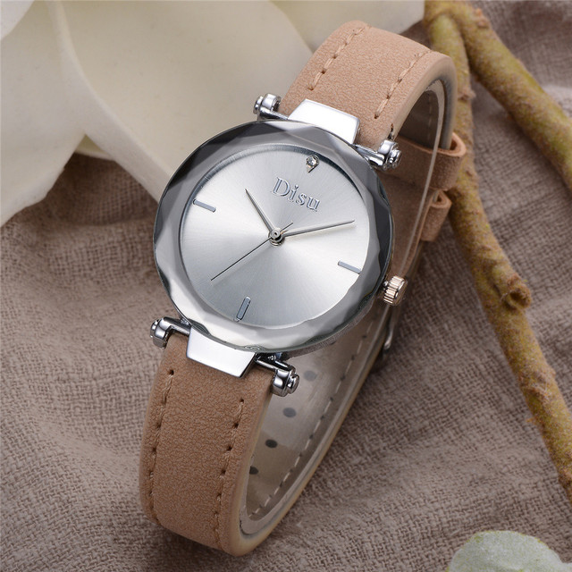 Exquisite small simple women dress watches retro leather female clock Top brand