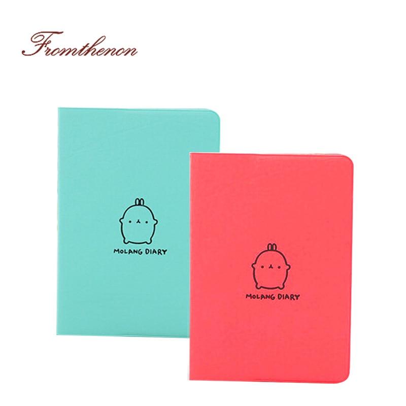 2015-2016 Cute Kawaii Notebook Мультяшный Molang Rabbit - Блокноттар мен жазу кітапшалары - фото 2