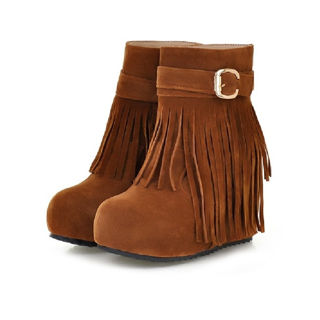 Fashion Women Winter Boots Botas Plataforma Flecos Stivali Donna Rubber  Leather Black Bottines Womens Booties Platform