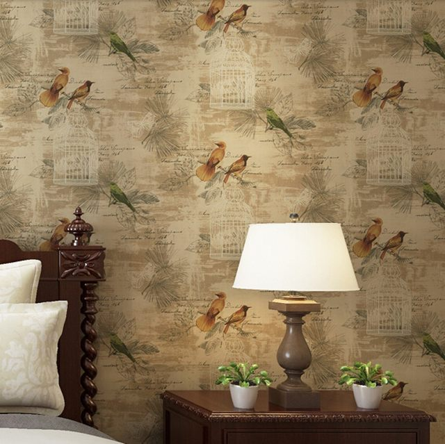 Beibehang Home Decor Flower Wall Paper Nonwoven Wallpaper Contact For Living Room Bird Roll Panel Behang