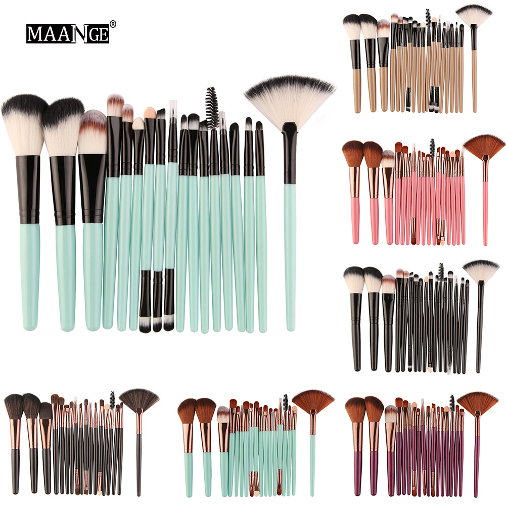 MAANGE 18pcs/set Makeup brushes Maquiagem Professional Beauty Eyebrow Blusher Foundation Cheek Cosmetic Make up brush set 5pcs set cute crown thick cot protector bumpers luxury baby bedding set cotton crib linens include around bed bumpers bed sheet