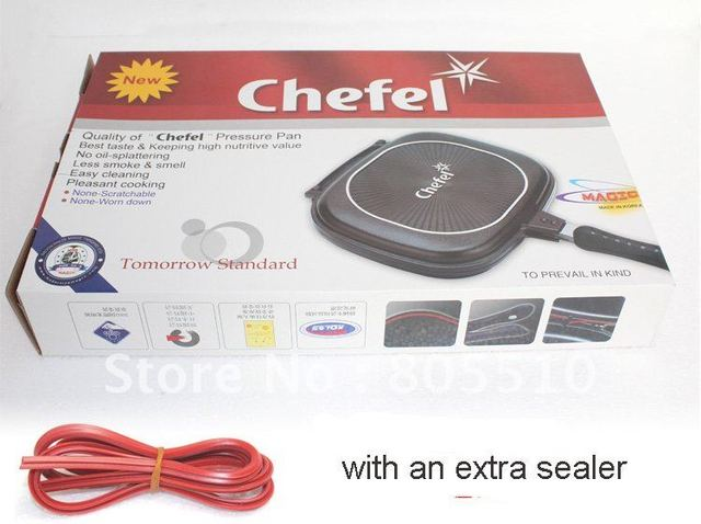 """HOT! 30cm chefel double side grill pan """"FREE SHIPPING"""""""