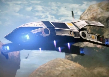 Mass Effect ut47 Kodiak spadek Fighter 3D papier model samolotu