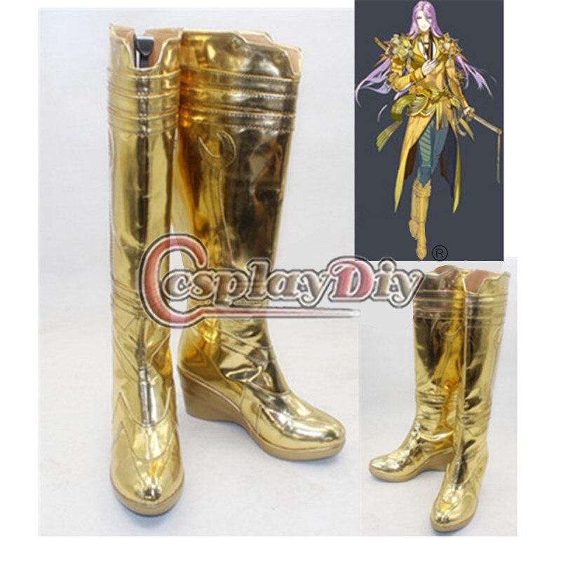 ФОТО Touken Ranbu Hachisukakotetsu Cosplay Shoes Boots Carnival Party Adult Women Girls Anime Cosplay Boots Custom Made