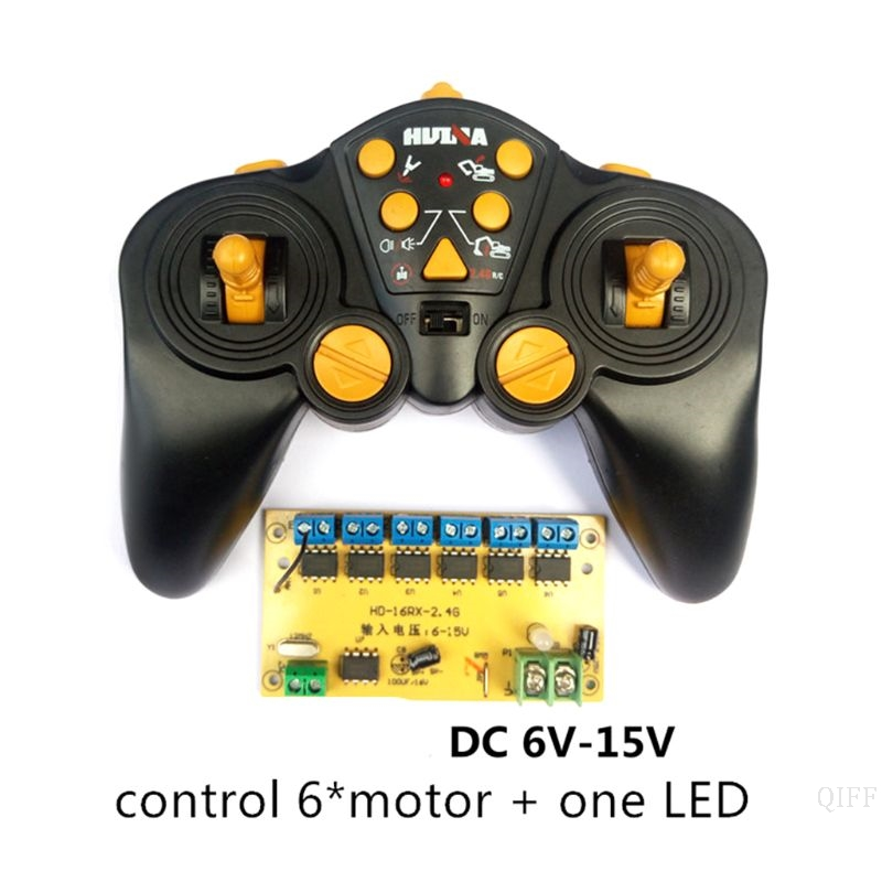 New 12 CH High-power 2.4G Remote Control And Receiver Car Ship Tank Excavator DIY 6-15v