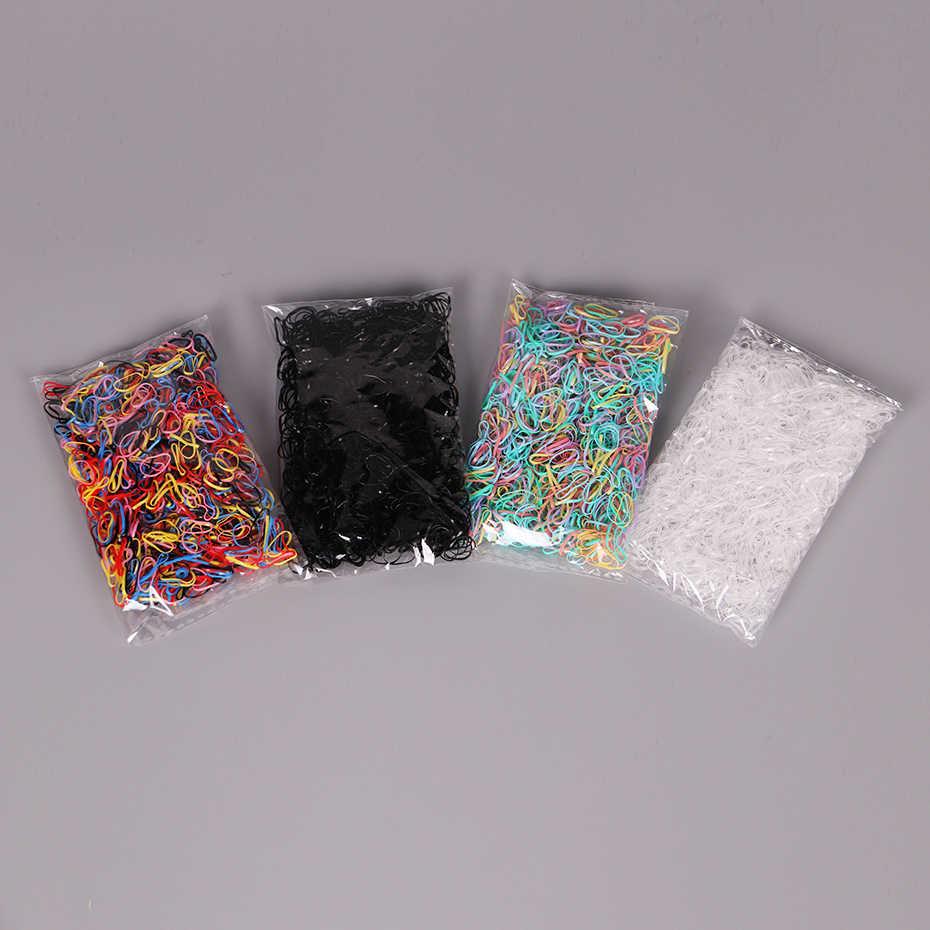 1.5CM nowe dziecko dziecko posiadacze włosów opaski gumowe gumki dziewczyna krawat warkocze akcesoria do włosów 4 kolor 1000 sztuk/worek