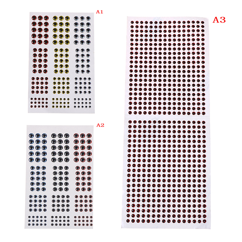 183/672pcs 3mm 4mm 5mm 6mm Mixed Sizes Bionic 3D Epoxy Fishing Eyes Resin Artificial Lure 3D Eyes Fly Lure