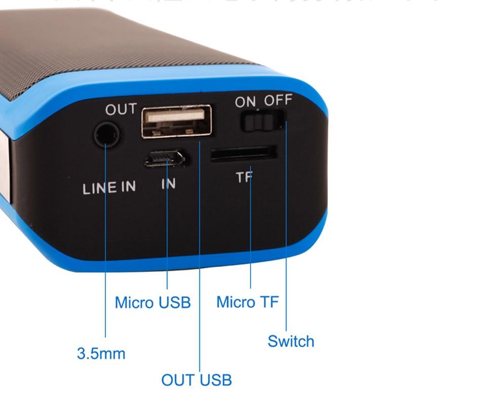 Zuczug Banco de potencia de altavoz Bluetooth portátil impermeable - Audio y video portátil - foto 5
