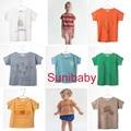 2017 nova primavera verão bobo Choses baby T shirt Tee top para Meninos Partes Superiores Das Meninas T do bebê crianças dos miúdos Roupas de bebe menino vestidos