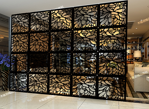 29*29CM Plans to customize Wooden Room divider Hanging Room Divider Screens for the Room Hanging Screen Paravent Decoration 6PCS ...