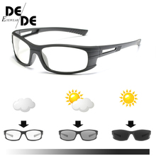 New Photochromic Sunglasses Men Polarized Driving Day Goggles Clout Sun Glasses Eyeglasses Male HD Discoloration
