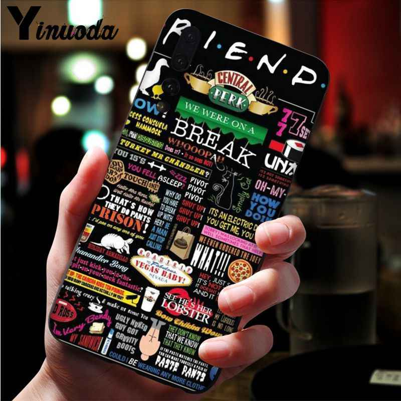 Funda de teléfono de TPU negra con puerta púrpura yinooda friends series para Huawei P10 plus 20 pro P20 lite mate9 10 lite honor 10 view10