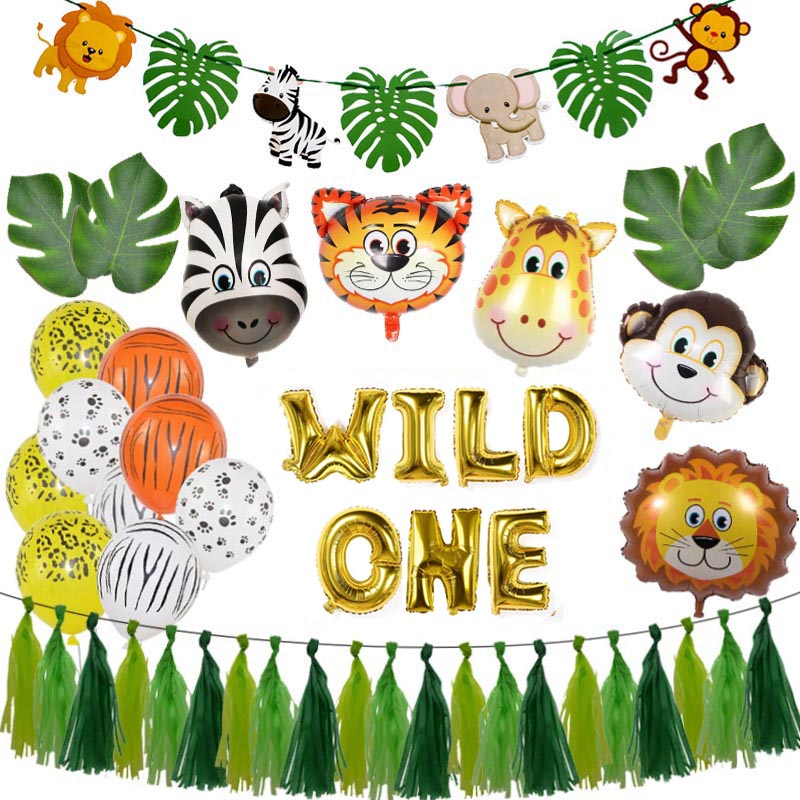 Baby Shower Animal Ballons Birthday Jungle Party Safari Party Jungle Theme Party Baloon Wedding Party Decor Kid Birthday Balloon