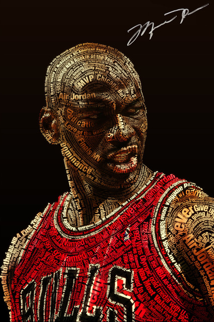 huge selection of ddc09 87cf7 P0728 Michael Jordan Letters together WALLPAPER Poster Wall Art for Home  Decor Canvas Printings 24x36inch