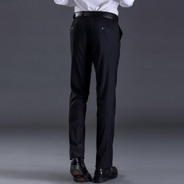 XMY3DWX New fashion male high-grade slim fit business Suit pants/Male leisure pure color Casual pants/men Thin leg pants 28-42 2