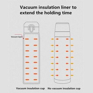 Image 5 - Youpin VIOMI Tragbare Vakuum Thermos 300ML /460ml Leichten Legierung Material 24 Stunden Thermos Einzigen Hand AUF/schließen