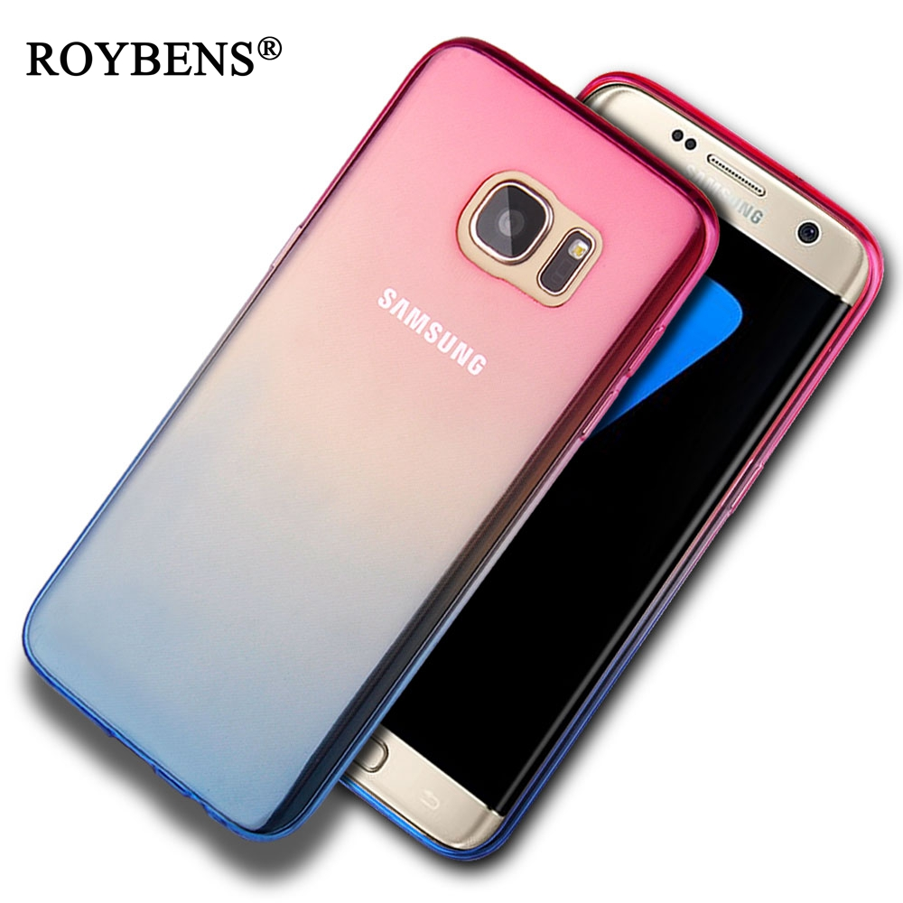 roybens s6 edge case luxury gradient colorful tpu silicone case for samsung galaxy s6 edge plus. Black Bedroom Furniture Sets. Home Design Ideas
