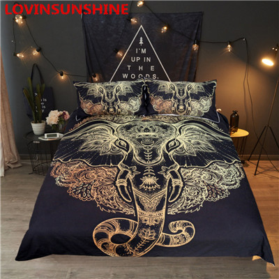 ff4b897b31 Luxury Feather Pattern Bedding Set Golden 3D Duvet Cover Mandala Boho  Bedclothes Feather Pattern 3pcs King Queen Quilt Cover set-in Bedding Sets  from Home & ...