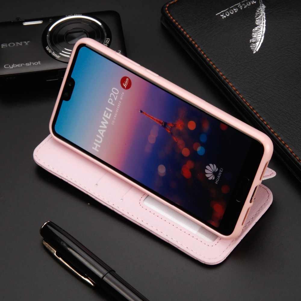 Pour Huawei P30 Pro P30 Lite étui paillettes couronne diamant portefeuille tourner l'étui en cuir Stand couverture sac de téléphone portable