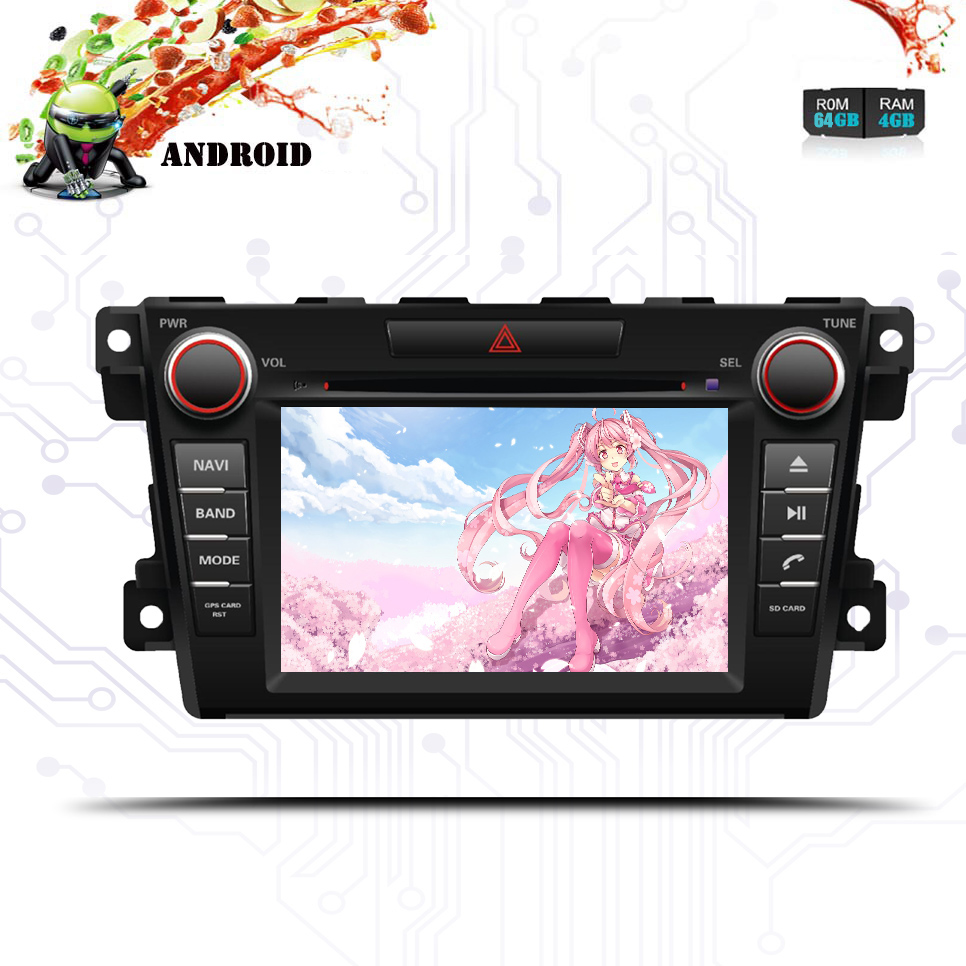 Car Multimedia player Android 9.0 <font><b>2Din</b></font> For <font><b>mazda</b></font> CX7 Car DVD Player 8Core 4G+64G GPS Navigation Tape Recorder 2007 -2010-2013 image