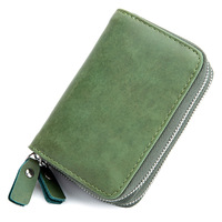 Multifunctional Double Deck Card Pack Zipper Men And Women Rfid Key Bag Large Capacity Coin Purse