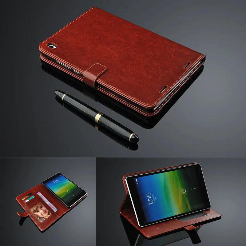 Cheap luxury wallet leather case cover for xiaomi mipad 1 for Documents xiaomi
