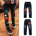 2017 Marca ropa Para Niños Baby Boy Pantalones Vaqueros de Los Niños Pantalones Niño Ropa de Algodón Elástico 6-9-11 años Niños Jeans Kid