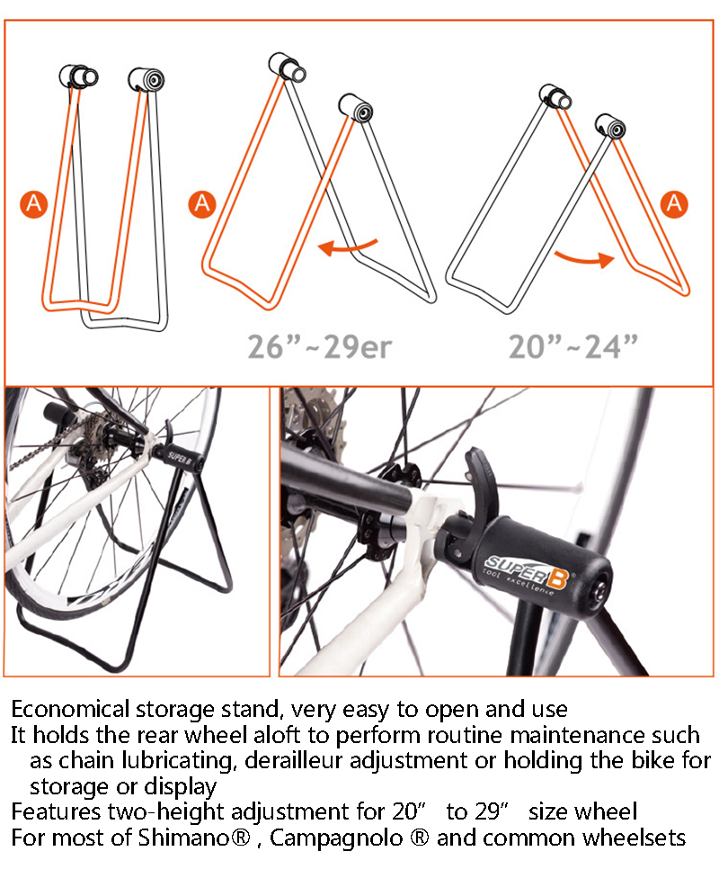 Portable Foldable Outdoor Steel Cycling Bike Repair Stand For Super B 1915 4 3