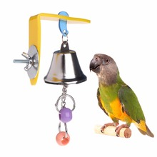 Колокольчик для попугая игрушки птицы жевательные Подвесные качели для клетки игрушки Аксессуары для укуса Попугайчик бусины Cockatiel игрушки для домашних животных товары для птиц C42