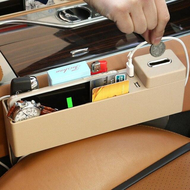 Multi-funktionale Auto Sitz Lücke Lagerung Box 2 USB Wireless Charging Für Mercedes-benz A B C E klasse W176 W204 W205 W212 W213 W222