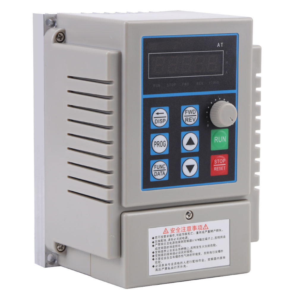 220VAC inverter Variable Speed Drive VFD Speed Controller for Single-phase 0.45kW AC Motor inversor Inverter Motor Drive Convert baileigh wl 1840vs heavy duty variable speed wood turning lathe single phase 220v 0 to 3200 rpm inverter driven