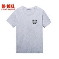 M 10XL Plus size T Shirts men Casual Short sleeves Cotton 100% tshirt men Print 7XL 8XL 9XL 10XL t shirt for 55 160kg big men