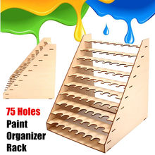 10 Layers 75 Pots Wooden Paint Bottles Storage Rack Holder Modular Master Collapsible Paint Box Organizer Storage Tools Supplies(China)
