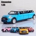 1:32 дети toys расширенный лимузин Мини Авто металла toy cars модель вытяните назад автомобиль миниатюры подарки для мальчиков детей