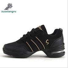 цена на New Sports Feature Soft Outsole Breath Dancing Shoes Sneakers For Woman Practice Shoes Modern Dance Jazz Shoes Discount