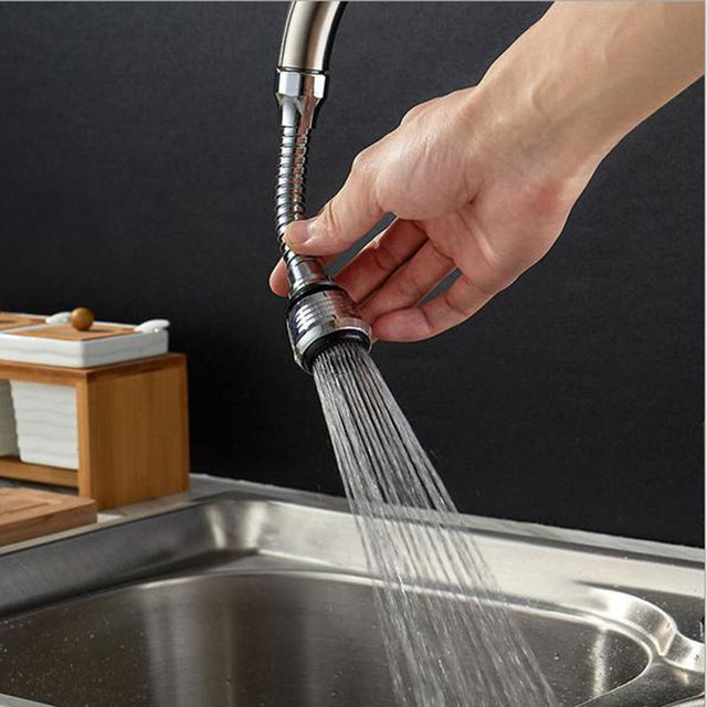 360 度キッチン蛇口ステンレス鋼回転可能な節水蛇口タップエアレーター蛇口ノズルフィルターバブラエアレーター