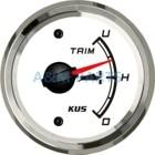 ①  Универсальный KUS Boat Trim Gauge Marine Индикатор наклона триммера Внутренний подвесной двигатель 5 ★