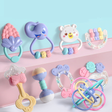Cute Baby Toys Newborn Teether Hand Bells Baby Toys 0 12 Months Teething Development Infant Early