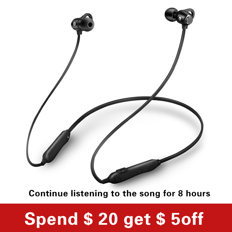 Wireless Headphones Bluetooth Earphone Sports Stereo Bass in Ear Earbuds Neckband Earphones Headset with Mic for Phone santoni балетки