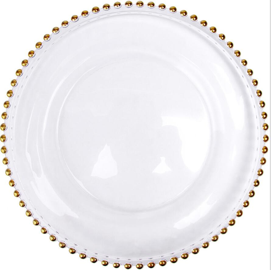 glass fancy design pearl inlay charger plate for wedding event decoration gold silver dinner plates 100 pcs/lot-in Storage Trays from Home \u0026 Garden on ...  sc 1 st  AliExpress.com & glass fancy design pearl inlay charger plate for wedding event ...