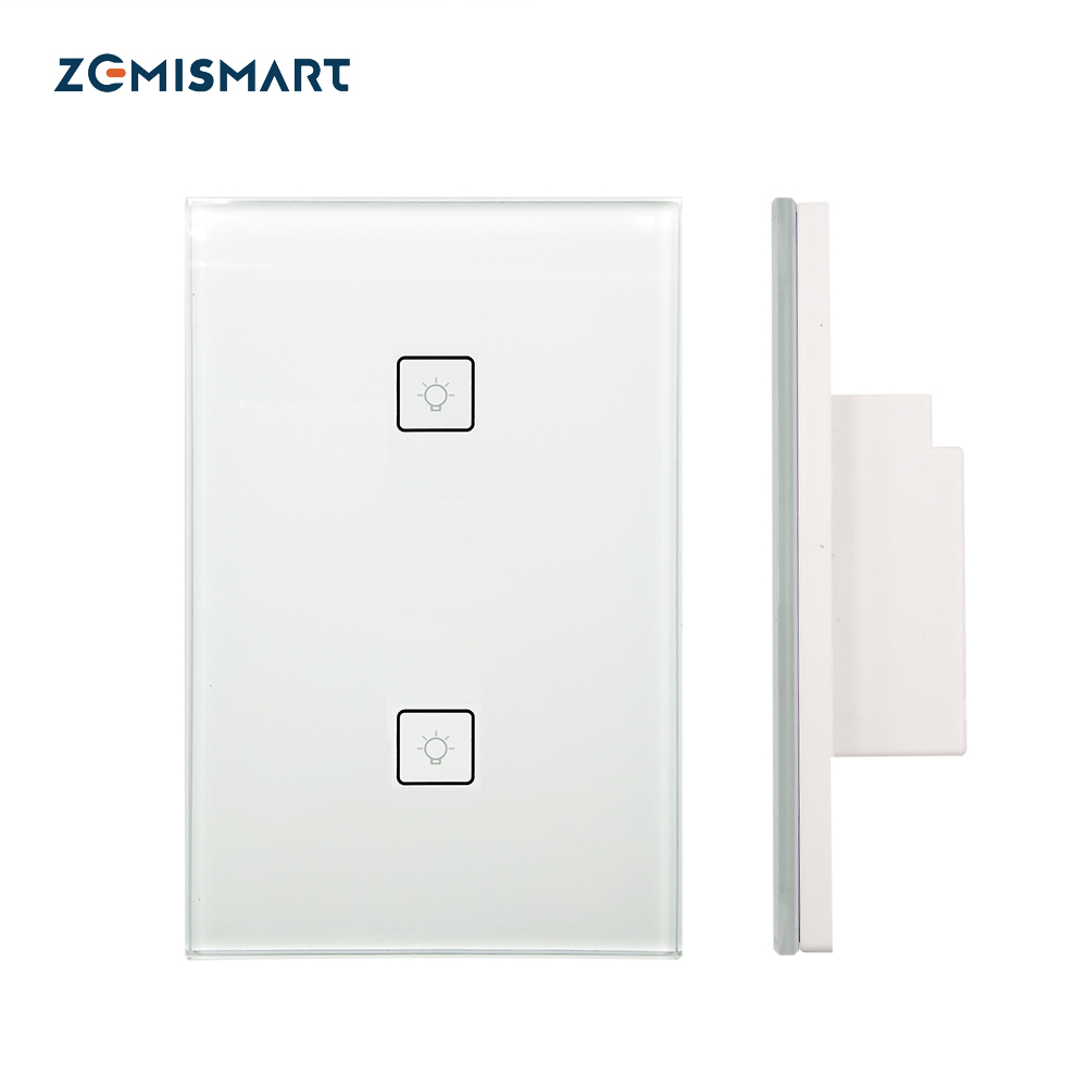 Zigbee-2-Gangs-Wall-Light-Switch-Work-With-Amazon-Alexa-Google-Home-via-SmartThings-Bridge-APP