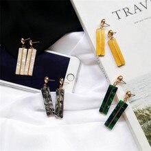 Rectangular Japanese Acrylic Earrings