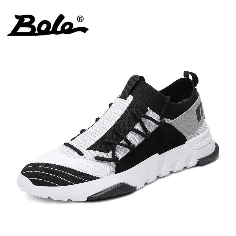 BOLE New Design Men Mesh Breathable Casual Shoes Fashion Lace Up Sneakers for Men Comfortable Colorful Shoes
