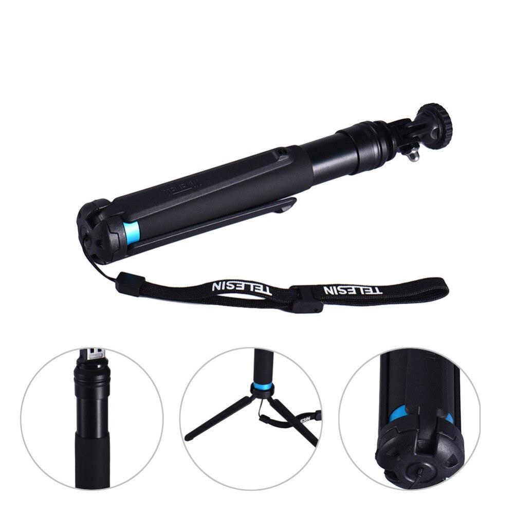 TELESIN Waterproof Selfie Stick for Gopro Hero 5 / 4 Sports Cameras Selfie Rod Super Long Telescoping Pole Monopod Tripod Stand