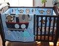 Promoção! 8 pcs Bordados Conjuntos de cama de Bebê kit Cama de Bebê Recém-nascido conjunto de berço, (bumpers + capa de edredão + cama + saia da cama + saco de fraldas)