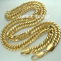 Men S 18K 18CT Yellow Gold Filled 50cm Lenght Curb Chain Necklace N252 50