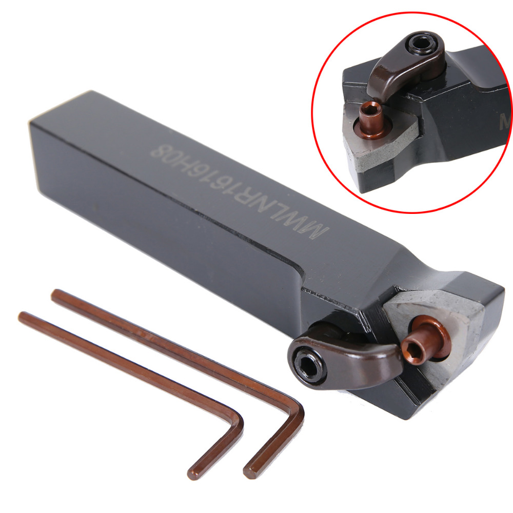 1pc New MWLNR1616H08 Lathe Tool Turning Holder Boring Bar + 2pcs Wrenches For Power Tool