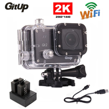 Gitup Git2 Pro Full HD 1080P Waterproof Sports Action Camera 2K 30fps Wifi Outdoor Cam +Dual Battery Charger+ 1Pcs Extra Battery