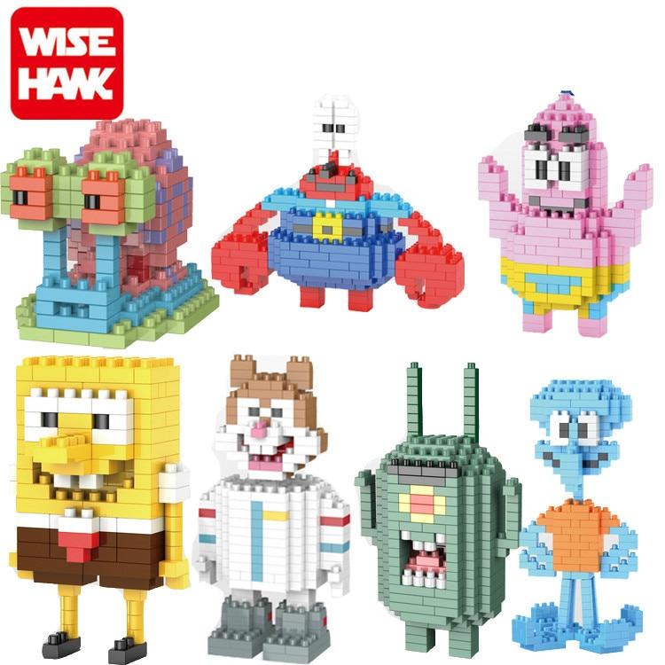 SpongeBob Diamond Building Blocks Present Gift Patrick Star Squidward Tentacles Eugene H. Krabs Bricks Action Figures Toy цена и фото